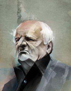Illustrations (october 2011 – june 2012) by Alexey Kurbatov, via Behance