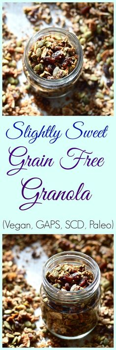 Pure and Simple Nourishment : Slightly Sweet Grain Free Granola (Paleo, Nut Free, Vegan, SCD, GAPS, Whole 30)