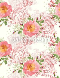 Epochal Roses designed by Michael Popov Studios, vector download available on patterndesigns.com