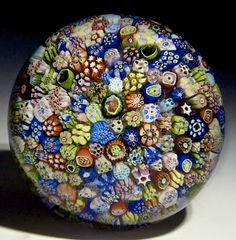 "Baccarat {France} paperweight - The very first year Baccarat began making paperweights 1846, Close Pack Millefiori, 3""w x 2""t, 20.35 oz. - #0621"