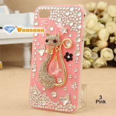 Best design 3D iphone case clear case Cat iphone 4 case by Veasoon, $24.99