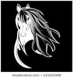 Find Vector silhouette of a horse's head Stock Images in HD and millions of other royalty-free stock photos, illustrations, and vectors in the Shutterstock collection. Horse Head Drawing, Silhouette, Stock Foto, Pictures To Draw, Royalty Free Stock Photos, Horses, Drawings, Animals, Image
