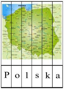 puzzle-do-nauki-czytania-polska-kolor Kids And Parenting, Montessori, Poland, Kindergarten, Puzzle, Teaching, Education, School, Maps
