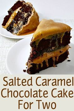 Small Batch Salted Caramel Chocolate Cake is slathered in homemade Chocolate Frosting and salted caramel topping. This is seriously delicious, so mois. Salted Caramel Chocolate Cake, Homemade Chocolate Frosting, Chocolate Caramels, Chocolate Bark, Chocolate Desserts, Small Desserts, Mini Desserts, Just Desserts, Delicious Desserts
