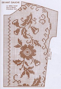 vintage filet top pattern 1