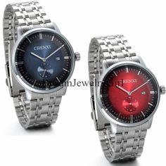 Men Luxury Stainless Steel Date Analog Quartz W/Second Hand Movement Wrist Watch #Unbranded #LuxuryDressStyles