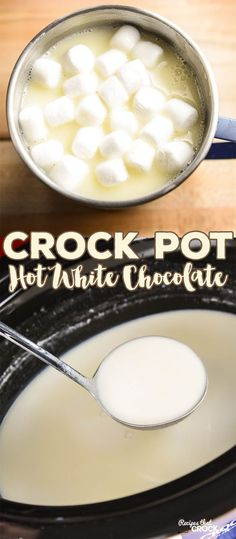 This Crock Pot Hot White Chocolate is our VERY favorite white hot chocolate…