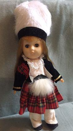 Ginny Doll Scotland Vintage Vogue Scottish Vinyl Blonde Hair Ethnic  | eBay