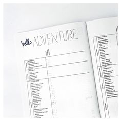 Bullet Journal Adventure Collection by @journalspiration