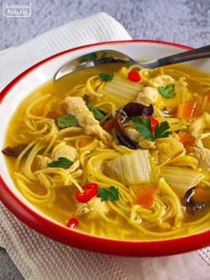 Asian Recipes, Ethnic Recipes, Fitness Diet, Thai Red Curry, Feta, Sushi, Good Food, Food And Drink, Soup