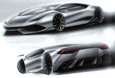 Lamborghini Huracan 2014 Sketches