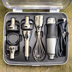 James Bond hand blender kit. >> Awesome!