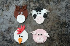 How To Create Farm Animal Cupcake Toppers | Mum's Business