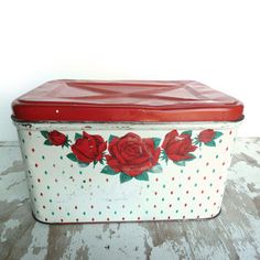 Vintage Rose Breadbox now featured on Fab.
