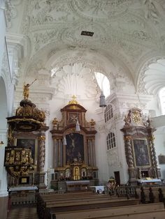 Inside the St. Mary Magdalene church in Altötting