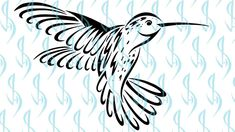 How to Draw a Tribal Hummingbird Tattoo Design Cool Tribal Tattoos, Tribal Tattoo Designs, Hummingbird Tattoo, My Etsy Shop, Things To Come, Drawings, Sketches, Drawing, Portrait