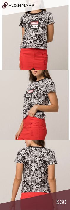 VANS x Marvel Marvel Women Womens Baby Tee Sz Med Vans x Marvel Marvel  Women baby tee. Vans and Marvel join forces to celebrate the iconic