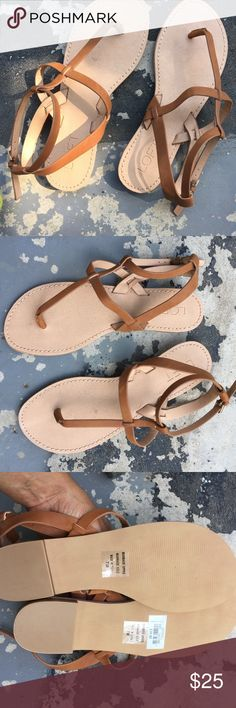 Ann Taylor Loft brown ankle sandals size 7 new These are really cute ankle brown sandals from Ann Taylor Loft size 7. New never been worn. Two ankle straps. ann taylor loft Shoes Sandals