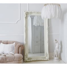 The French Bedroom Company's Double-Framed Marquise Ivory Mirror, the perfect accessory for your romantic home.