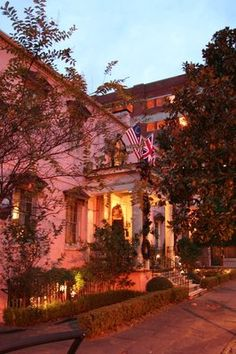 Olde Pink House  Savannah, GA great food and a haunted restaurant to boot!!
