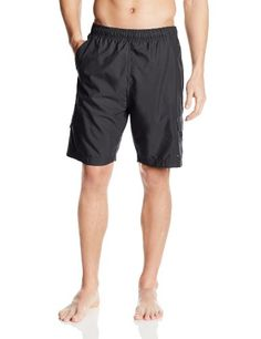 Hawaiian Authentic Mens Aloha Cargo Pocket Swim Trunks Charcoal Small <3 Offer can be found by clicking the image
