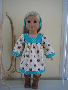 a cute owl dress for 18 in. dolls