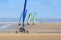 Blokart racing on Cefn Sidan beach South Wales last year.
