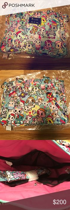 BRAND NEW TOKIDOKI BE CLASSY! Brand new with original packaging! This bag is absolutely to die for! It comes with the messenger strap! The place on this bag in my opinion is impeccable! This is from the Unikiki 2.0 collection! With the original tags attached! MUST GO!😊💗💟 tokidoki Bags Baby Bags