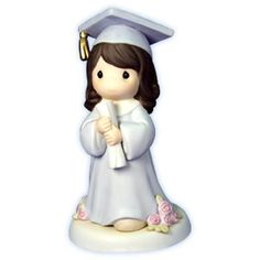 Precious Moments - The Lord Is The Hope Of Our Future - Graduation Girl With Dark Hair