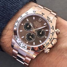 Chocolate dial 🍫😋 Rolex Daytona in Everose Gold Ref 116505 from Relic Watches, Dream Watches, Fine Watches, Seiko Watches, Stylish Watches, Luxury Watches For Men, Diesel Watches For Men, Bracelets Design, Armani Watches