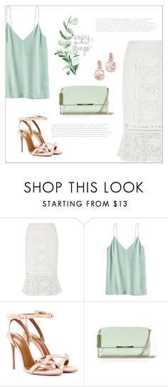 """Без названия #8134"" by bliznec ❤ liked on Polyvore featuring River Island, Aquazzura, Kate Spade and BillyTheTree"