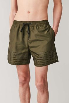 Unique Eating Lemon and Mint Quick Dry Young Men Swimming Trunks Short,