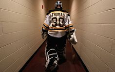 Tim Thomas leaving the ice . and Boston. Hockey Goalie, Hockey Teams, Hockey Players, Hockey Stuff, Ice Hockey, Tim Thomas, Dont Poke The Bear, Patrice Bergeron, Bobby Orr