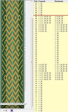 30 tarjetas, 4 colores, repite cada 46 movimientos // sed_558b diseñado en GTT༺❁