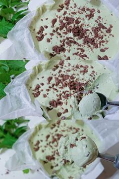 Mint Chocolate Chip Ice Cream Recipe, Homemade Chocolate Chips, Brownie Ice Cream, Mint Ice Cream, No Churn Ice Cream, Chocolate Chip Recipes, Mint Chocolate Chips, Chocolate Strawberries, Dessert Chocolate