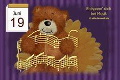 June 19, Gifs, Teddy Bear, Night, Animals, Day Of Year Calendar, Gif Pictures, Birthdays, February