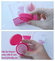 A collapsible menstrual cup? Yes, that's exactly what this Lily Cup is! Collapses for easy travel and transport.
