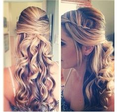 Her hair!! Possible prom hairdo?? Hmmmmm...... I think it's not that bad! If I had longer hair...