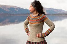 Inspired by a beautiful Kashmir shawl at Gawthorpe Hall, this yoke sweater with matching, separate gauntlets celebrates the life and work of Rachel Kay Shuttleworth, who founded a wonderful textile collection for future generations to enjoy. Fair Isle Knitting, Loom Knitting, Knitting Patterns, Sweater Patterns, Knitting Ideas, Free Knitting, Ravelry, Kate Davis, Icelandic Sweaters