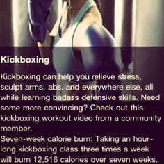 I LOVE kick-boxing. Such a great stress reliever, gets you amped up and makes you feel powerful