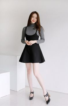 Suspenders Knitted Dress