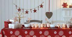 Déco table de Nöel pas cher : nos idées bluffantes pour un joli Noël (some pretty table setting/decoration ideas from Côté Sud magazine)