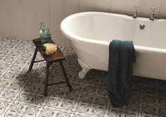 OriginalStyle Tile - Phoenician Denim on Dover White