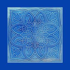 38 Original Art Nouveau tile. Artist unknown. Please say if you know! Buy as an e-card with a personalised greeting!