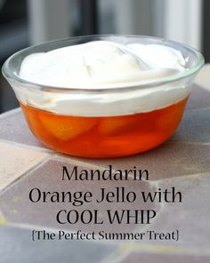 Mandarin orange jello with COOL WHIP - perfect spring or summer treat.