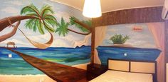 Beach wall art  Τοιχογραφίες δωματίων www.wallinart.gr Wall Drawing, Tapestry, Wall Art, Drawings, Painting, Home Decor, Sketches, Tapestries, Decoration Home