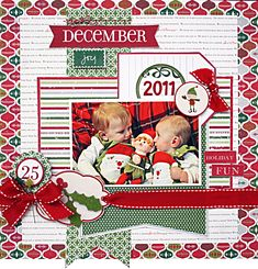 1 photo 1 page Christmas ...December Joy **Little Yellow Bicycle** - Scrapbook.com