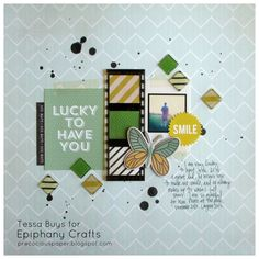 Layout made with the #epiphanycrafts Shape Studio Tool Square available at #MichaelsStores www.epiphanycrafts.com #scrapbook #xyron #studiocalico #cratepaper #dcwv #heidiswapp #basicgrey
