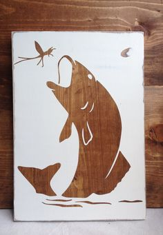 Fish or Deer Wood Board Silhouette Art by DoddDoverDesigns on Etsy