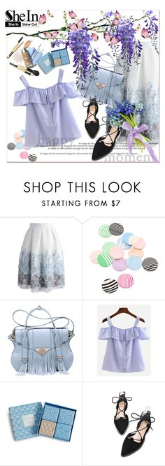 """""""Blue Striped Shirt in SheIn!"""" by pavicmartina ❤ liked on Polyvore featuring Chicwish, Ella Rabener and Vera Bradley"""